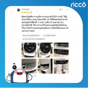 Read more about the article รีวิว ricco พัดลมหมุนเวียนอากาศ TST-5071