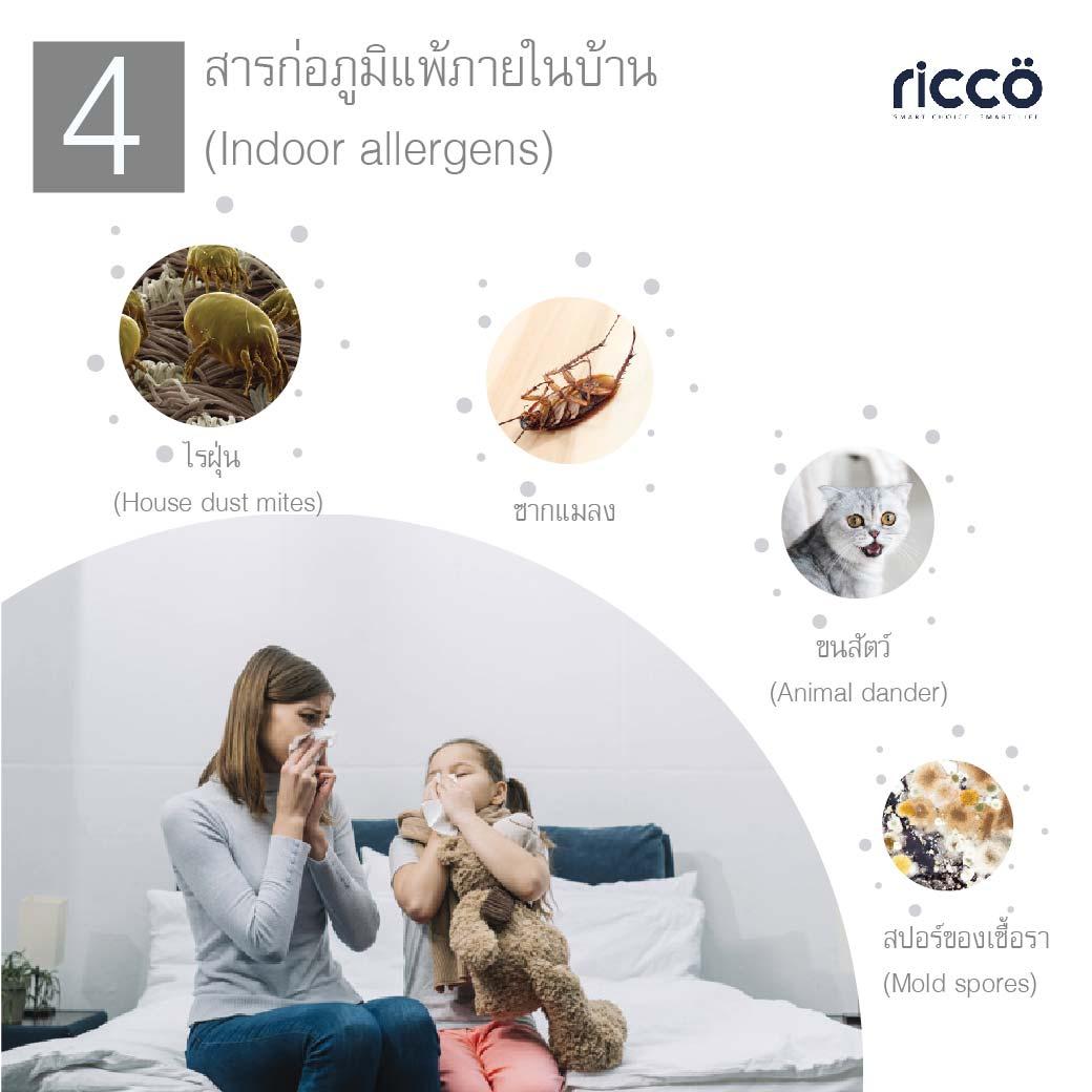 You are currently viewing 4 สารก่อภูมิแพ้ภายในบ้าน  (Indoor allergens)